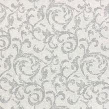 Dekoračná látka režná-strieborná, sivý vzor, š.140