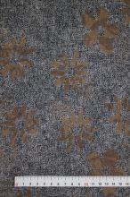 Kostýmovka šedá, hnedý kvet, š.145