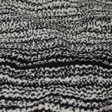 Úplet 17439, bielo-čierny vzor, š.145