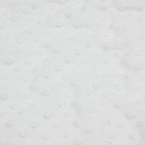 Minky biele, pretláčané ťuplíky, š.150