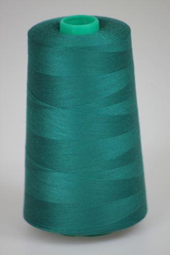 Niť KORALLI polyesterová 120, 5000Y, odtieň 6425, zelená