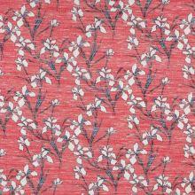 Svetrovina růžová, bílé květy, š.150