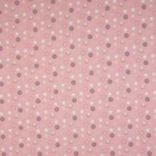 Úplet růžový, puntíky, š.145