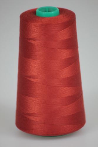 Niť KORALLI polyesterová 120, 5000Y, odtieň 2275, červená-oranžová