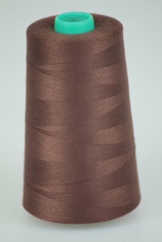 Nit KORALLI polyesterová 120, 5000Y, odstín 8570, hnědá