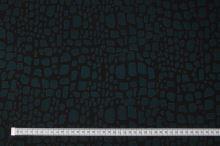 Úplet černý 14431, zelený vzor š.150