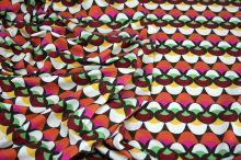 Úplet barevné vlnky, oranžová & vínová, š.140