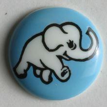 Gombík detský modrý 210937, 15mm