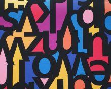 Úplet farebný, veľká čierna písmená, š.175