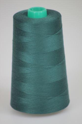 Niť KORALLI polyesterová 120, 5000Y, odtieň 6590, zelená
