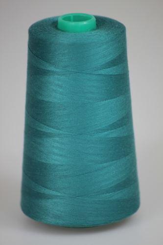 Niť KORALLI polyesterová 120, 5000Y, odtieň 6570, modrá-zelená