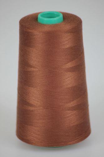 Nit KORALLI polyesterová 120, 5000Y, odstín 8435, hnědá