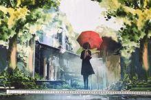 Úplet dáma s deštníkem, š.175