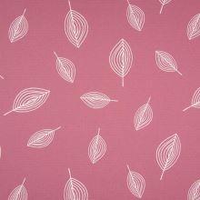 Dekoračný materiál staroružový, biele listy, š.150