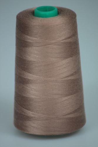 Nit KORALLI polyesterová 120, 5000Y, odstín 4830, béžová-hnědá