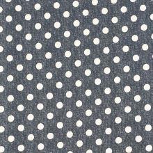 Úplet sivý, biele bodky, š.150