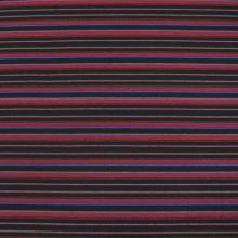 Úplet černý, vínové a modré pruhy, š.160