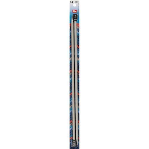 Rovné pletací jehlice Prym 40cm, velikost 7,0