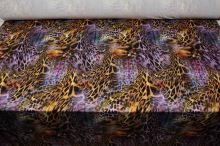 Úplet žlto-fialový, zvierací vzor, š.150