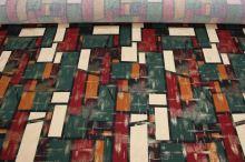 Úplet farebný 12896 vzor obdĺžniky, š.145