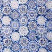 Úplet bílo-modré mandaly, š.175