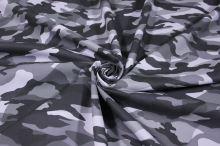 Koženka army, šedá kamufláž, š.140