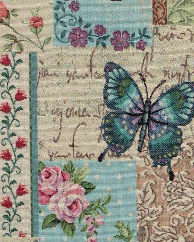 Dekorační látka NATALI, motýlí patchwork, š.280