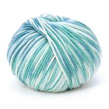 Příze HOLLIE PRINT 50g, zelenobílý melír- odstín 567