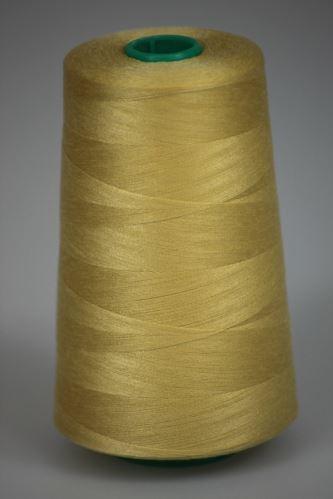 Niť KORALLI polyesterová 120, 5000Y, odtieň 1280, žltá