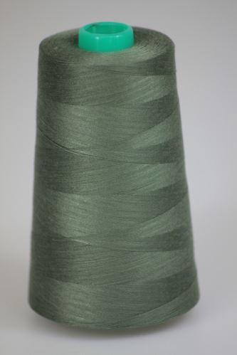 Niť KORALLI polyesterová 120, 5000Y, odtieň 6740, zelená