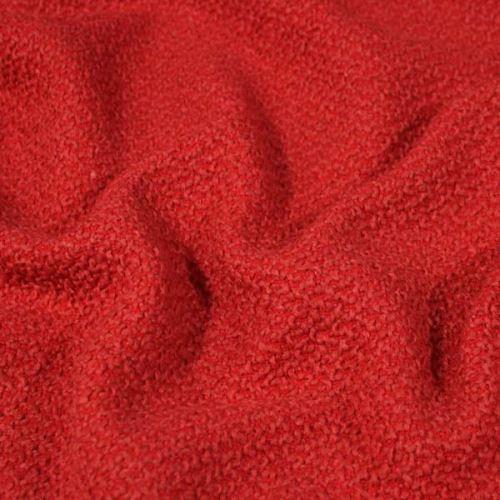 Kabátovina červená se vzorem, š.145
