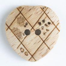 Knoflík dřevěný 231608, 15mm