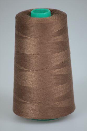 Nit KORALLI polyesterová 120, 5000Y, odstín 8325, hnědá