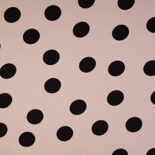 Šatovka 21649 púdrová, veľké čierne bodky, š.140