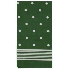 Dámska šatka zelená, biele bodky, 70x70cm