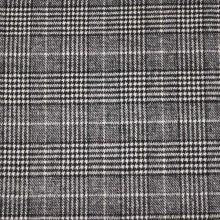 Kabátovina bílo-černé káro, š.150