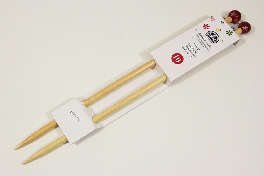 45d12d6259efe Rovné pletacie ihlice bambusové 40 cm, veľkosť 10,0 | Látky ...