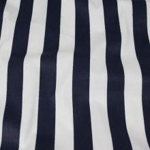 Bavlna bílo-modrý pruh, š.140