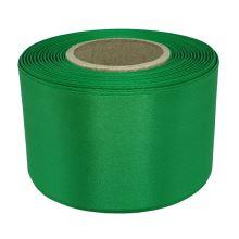 Stuha atlasová zelená, šíře 60mm