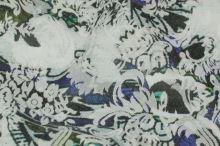 Kostýmovka žakár, barevný vzor, š.125