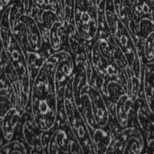 Kabátovina čierno-biely kašmírový vzor, š.150