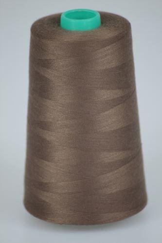 Niť KORALLI polyesterová 120, 5000Y, odtieň 8560, hnedá