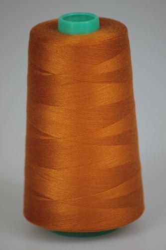 Niť KORALLI polyesterová 120, 5000Y, odtieň 2160, oranžová-hnedá