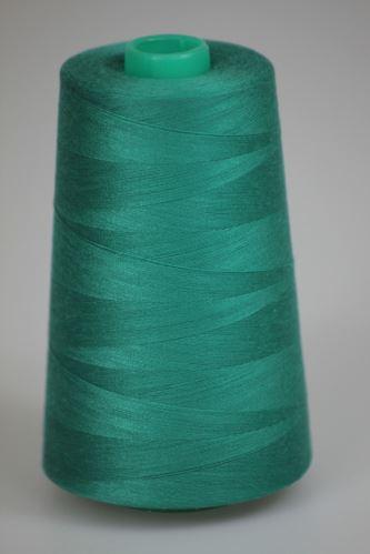 Niť KORALLI polyesterová 120, 5000Y, odtieň 6420, zelená