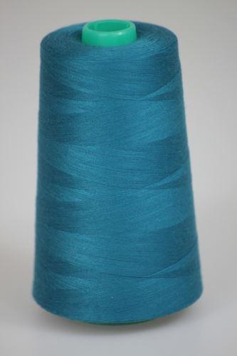 Niť KORALLI polyesterová 120, 5000, odtieň 5745, modrá