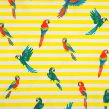 Úplet žluto-bílý pruh, papoušci, š.150