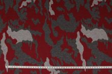 Úplet N2951 šedo-červený vzor, š.145