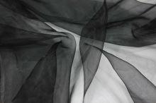 Organza čierna jemná, š.150