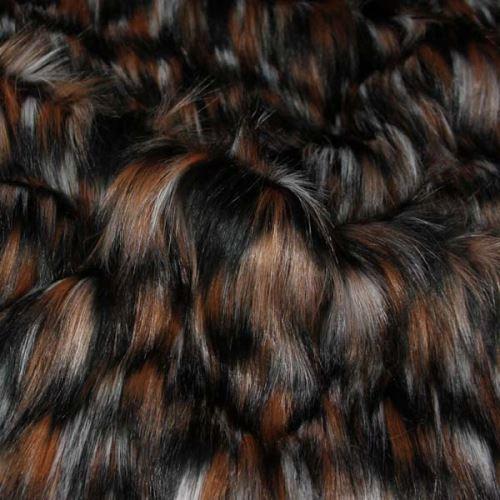 Kožešina tříbarevná 17392, š.150