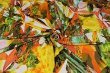Úplet pestrofarebný, kvety a listy, š.155
